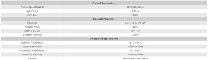 Thông số kỹ thuật bộ trình chiếu không dây MaxHub WB01
